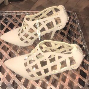 Almond bone sexy heel boot